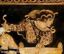 Oedipus Blinds Himself Erinyes Page 3 Greek Mythology