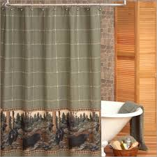 the bears rustic lodge shower curtain
