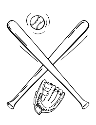 free baseball bat coloring