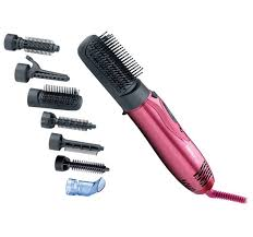 Hair Dryer And Straightener new hair brush dryer blower 7in1 curling straightener set wholesale