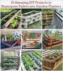 Garden Planters Ideas 25 Amazing Diy Projects To Repurpose Pallets Into Garden Planters