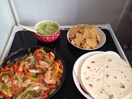 cuisine mexicaine fajitas shabbat mexicain fajitas de poulet guacamole maison tortillas