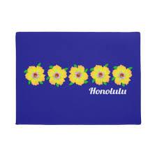 Hawaiian Doormats Hawaiian Flowers Doormats U0026 Welcome Mats Zazzle
