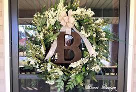 monogram wreath easy diy home decor hanging monogram wreath tutorial