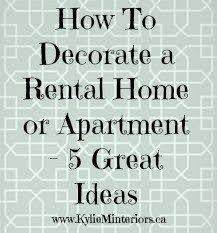 Cheap Decorating Ideas For Home Best 25 Rental House Decorating Ideas On Pinterest Small