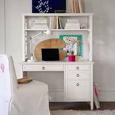 Antique White Desk With Hutch Elsie Desk Hutch Pbteen Intended For White Desk Hutch