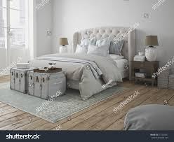 3d rendering luxury modern style bedroom stock illustration
