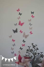 stickers décoration chambre enfant fille bébé papillons