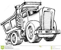 sketchy dump truck vector stock image image 10241401