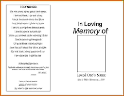 memorial service programs 9 memorial service programs templates free lease template