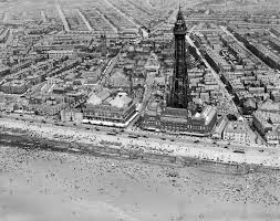 this remarkable shot of blackpool tower and the winter gardens was