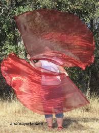 Dancing Flags Custom 2 Single Layer Angel Wings Worship Flags Chiffon Choose