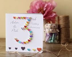 3rd wedding anniversary 3rd wedding anniversary card handmade personalised 3rd