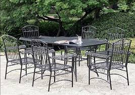 Aluminium Patio Furniture Sets - stunning black metal patio furniture with wrought iron home