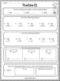 3rd grade math review spiral review worksheets by ashleigh tpt