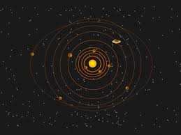 solar system powerpoint design ppt backgrounds black