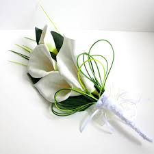 calla bouquet this arm bridal bouquet is made with 4 large open faux