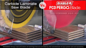 What Type Of Saw To Cut Laminate Flooring Diablo U0027s Pcd Tipped Pergo Saw Blade For Wood Flooring Youtube