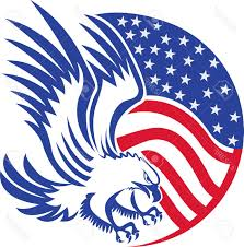 Usa Flag Vector Top Usa Flag With Eagle Vector Images Vector Drawing Graphics