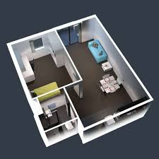 home design 1 bedroom apartment floor plans with laundry