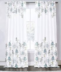 amazon com envogue window curtains turquoise exotic jacobean