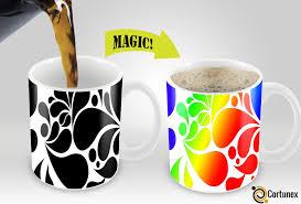 coffee mug cortunex magic mugs amazing new heat sensitive color changing