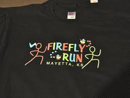 custom light up t shirts custom glow in the dark firefly run t shirts help mayetta ks light