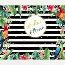 Tropical Themed Party Decorations - tropical luau party backdrop tropical luau party decorations