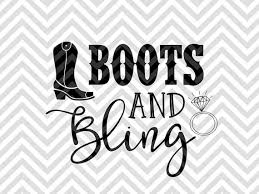 s boots with bling boots and bling wedding bachelorette svg file cut file