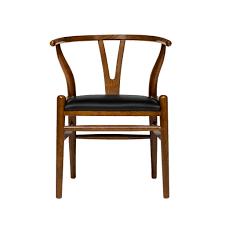 wishbone chair walnut italian leather