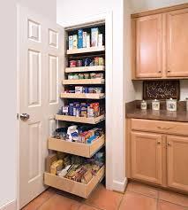 Wood Kitchen Storage Cabinets Kitchen Kitchen Storage Cabinet In White Made Of Wood With Pull