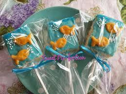 goldfish rice krispy treats under the sea bubble guppies