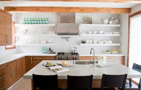 Kitchen Open Shelving And Cabinets Redtinku - Kitchen shelves and cabinets