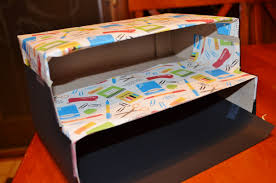 diy stylish recycled organizer box from cereal boxes
