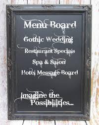 rustic black framed chalkboard extra large chalkboard for