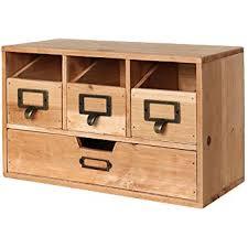 Desk Storage Organizers Rustic Brown Wood Desktop Office Organizer Drawers