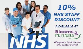 Flowers Glasgow - nhs staff discounts available at blooms for flowers blooms