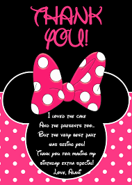 mickey mouse thank you cards minnie mouse thank you card minnie mouse party minnie mouse