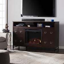 Electric Media Fireplace Sei Gramercy Electric Media Fireplace With Bookcase Espresso