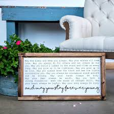 smallwood home smallwoodhome com wood framed signboard forever young multiple sizes