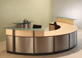 Front Reception Desk Perfect Circular Reception Desk Valencia Semi Circular Reception