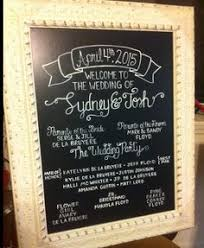 Wedding Program Chalkboard Custom Hand Painted Chalkboard Wedding Program Sign Wedding