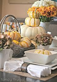 pumpkin decorating ideas fall table white plates pumpkin and