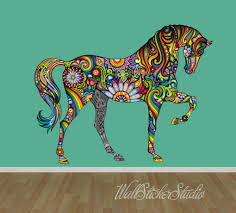 horse wall decal pattern horse fabric wall decal stickers zoom