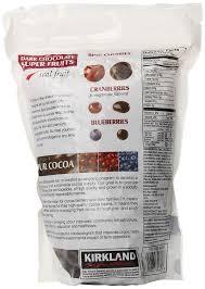 amazon com kirkland signature dark chocolate super fruits 2