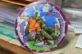 napa vintage cup artwork marvin u0027s flying disc collection