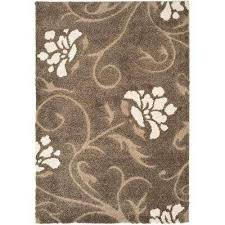 8 x 10 dark brown shag area rugs rugs the home depot