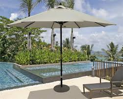 Olefin Patio Umbrella 11 Wood Market Umbrella Olefin Canvas