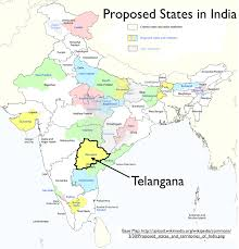 India Political Map by Telangana Again Geocurrents