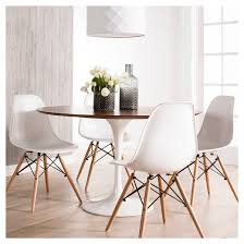 Catalina Modern Round Dining Table Walnut White  Target - Modern round dining room table